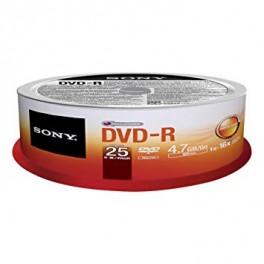 Cono Sony Dvd-R 25unidades 4.7Gb 25DMR47SP