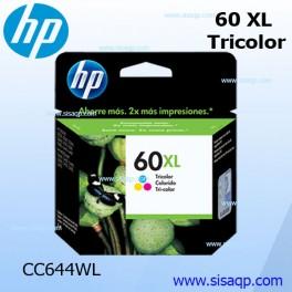 Tinta Hp 60xl Tricolor Cc644wl para D1660 / F2430