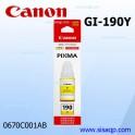 Tinta Canon GI-190 Y Amarillo 0670C001AA
