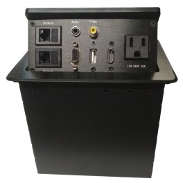 Caja de conexiones para mesas de conferencia