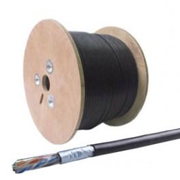 Cable Utp/pe solido Cat6 Negro para exterior por metro