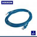 Patch Cord Dixon Cat.6 LSZH 1metro Azul