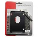Caddy de unidad de disco duro universal SATA 2nd HDD de 9,5 mm para CD / DVD-ROM Bahía óptica