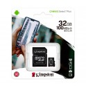 Memoria micro-SD Kingston 32 Gb, Canvas Select, UHS-I Speed Class 1 (U1), con Adaptador SD SDCS2/32GB