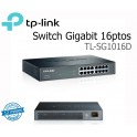 Switch Gigabit Ethernet TP-Link TL-SG1016D, 16 RJ-45 GbE 10/100/1000 Mbps, 13.3 W