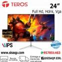 """Monitor Teros 24"""" Full HD IPS, TE-24FHD8, 1920x1080, Full HD, HDMI, VGA"""