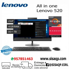 """Pc Lenovo 520 All in One, 23.8"""" FHD, AMD Ryzen 3 2200GE 3.2GHz, 4GB DDR4, 1TB SATA F0DN003NLD"""