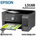 Impresora Epson EcoTank L3160, imprime/escanea/copia, USB/WiFi Multifuncional
