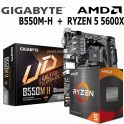Combo Ryzen 5 5600X + Gigabyte B550M-H