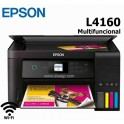 Impresora Epson EcoTank L4160, multifuncional de tintaimprime/escanea/copia, Wi-Fi / USB 2.0