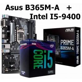 Combo Placa Asus Prime B365M-A y Procesador I5-9400, LGA1151