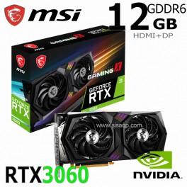 Tarjeta de video MSI Nvidia GeForce RTX 3060 GAMING X 12G, 12GB GDDR6