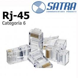 Conector Rj-45 Categoria 6 Satra por unidad
