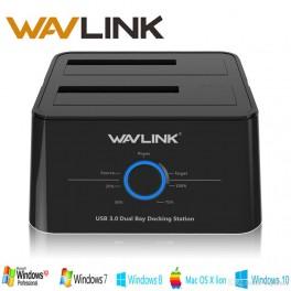Wavlink - Estacion de Acoplamiento para Disco Duro Usb 3.0, Docking station