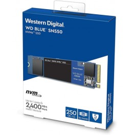 Disco solido SSD WD 250Gb Blue SN550, PCIe, M.2 2280 WDS250G2B0C