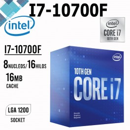 Intel Core i7-10700F, 2.90 GHz, 16 MB Caché L3, LGA1200, 65W, 14 nm BX8070110700F Procesador