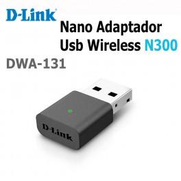 Nano Adaptador USB Wireless N300 D-Link DWA-131, 2.4GHz, 802.11g/n, USB 2.0