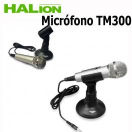 Microfono con pedestal Halion TM-300 para computadora