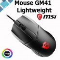 Mouse Msi GM41 Gamer Clutch Lightweight, Optico, hasta 16000dpi, USB 2.0, 6-botones, Negro