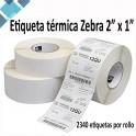 """Papel Etiqueta Termico Zebra Z-Select 4000D 2""""x1"""" 10010039"""