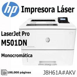 Impresora Hp LaserJet Pro M501dn, 45 ppm, 4800x600 dpi, LAN/USB