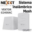Sistema Inalámbrico Mesh Nexxt Vektor G2400-AC, Gigabit, 1200Mbps, Doble banda