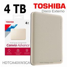 Disco externo 4TB Toshiba Canvio Advance USB 3.0 HDTCA40XW3CA White