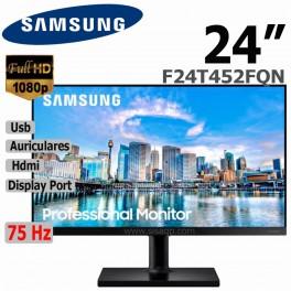 """Monitor Samsung 24"""" LED IPS F24T452FQN 1920x1080, 2 x HDMI 1 x DisplayPort 1 x Headphone, 2 x USB 2.0"""