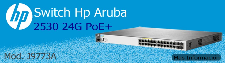 Switch HP 2530-24-G-PoE+, 24 puertos 10/100/100 PoE+ J9773A